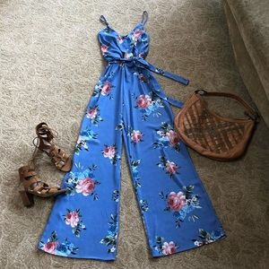 Pretty Floral wide-leg Jumpsuit